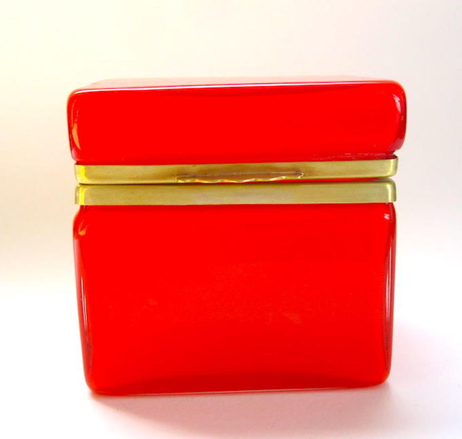 Rare Murano Red Casket Box