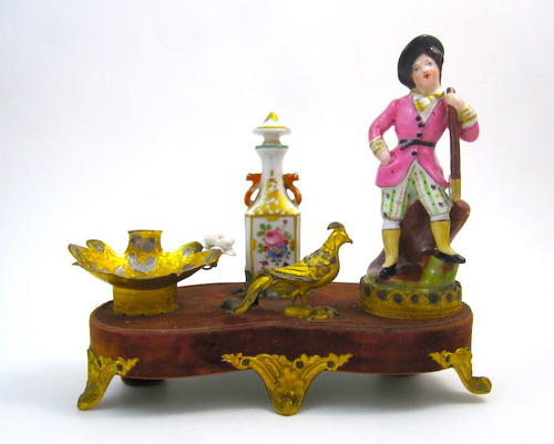 A Rare French 19th Century FrenchPorcelain Perfume Set