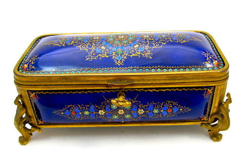 A Superb Large Palais Royal Antique French Jewellery Casket by Tahan
