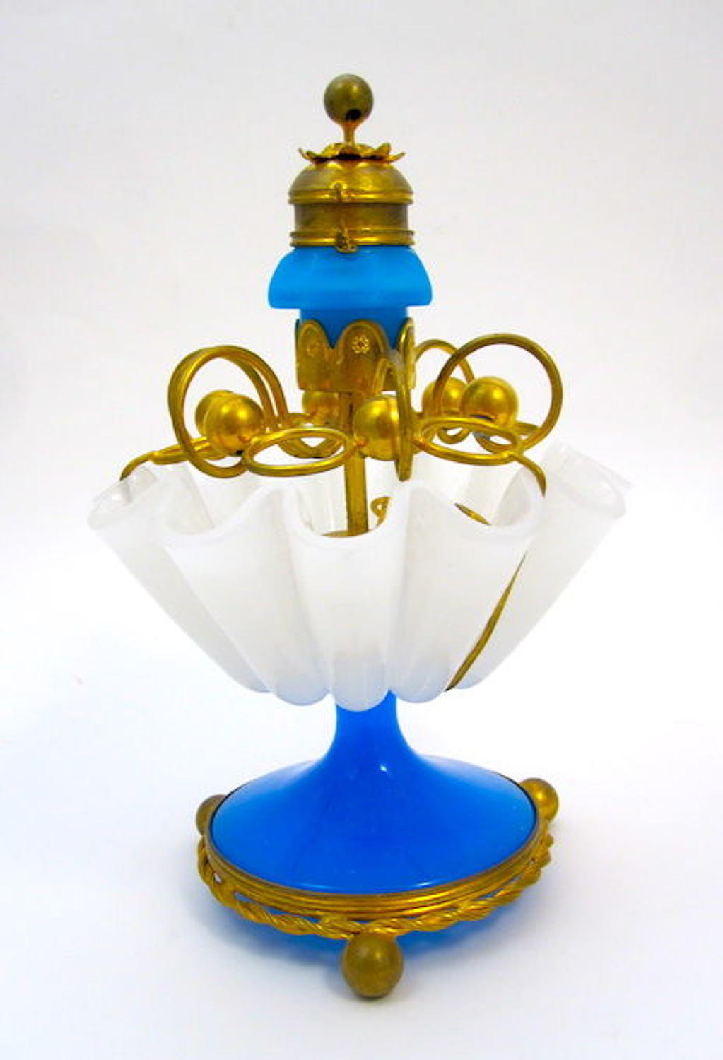 RARE Anitque French Opaline Glass Cigar Holder