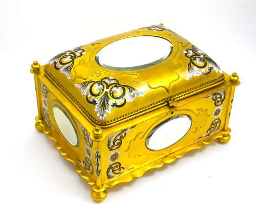 MONUMENTAL Rare Tahan Enamelled Casket Box