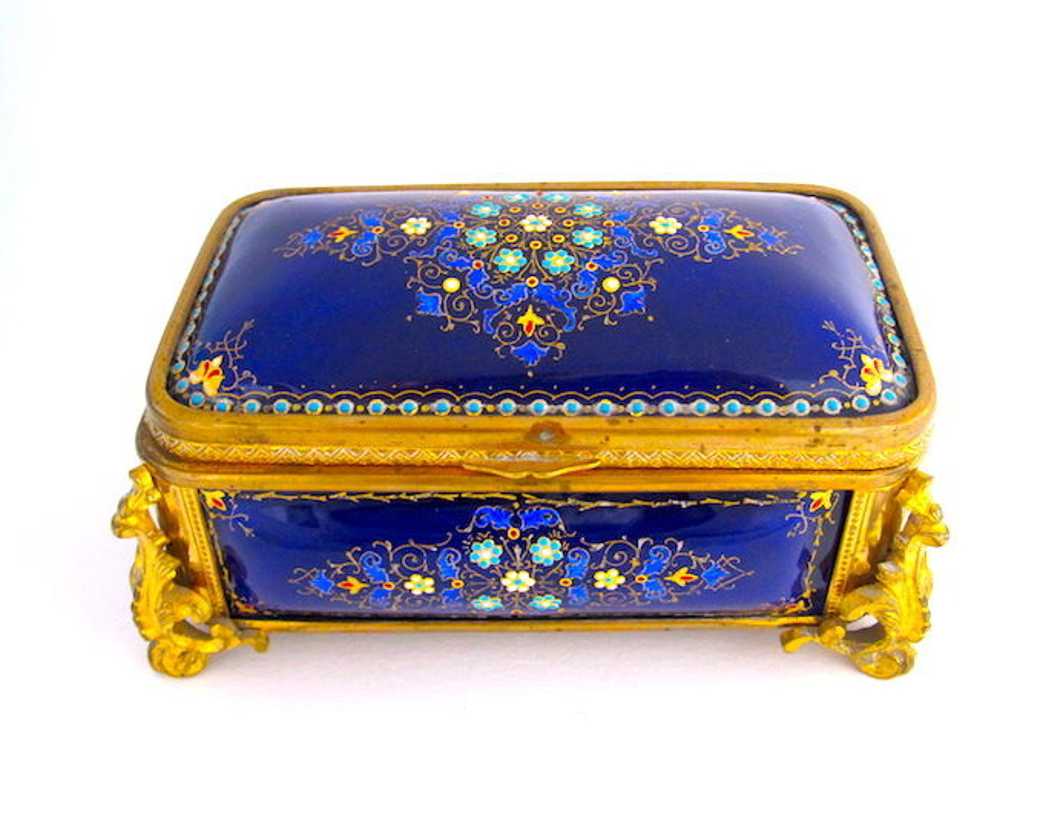 A Superb Large Tahan Antique French 'Bombe' Jewel Casket