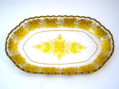 A Very Large Antique Gilded St Louis Centrepiece Oval Dish.