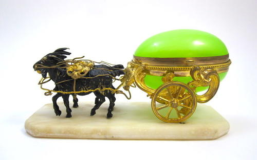 Antique Palais Royal Dore Bronze Cart