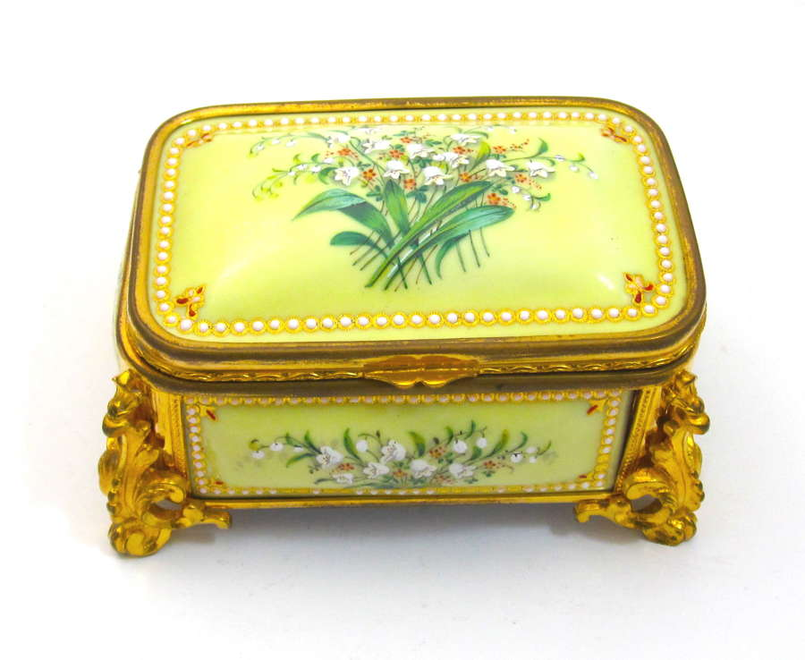 Palais Royal Antique Yellow 'Bombe' Jewel Casket by Tahan
