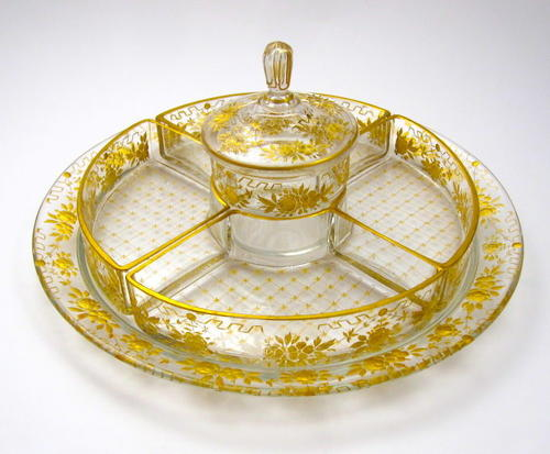 Antique French St Louis Sweetmeat Dish