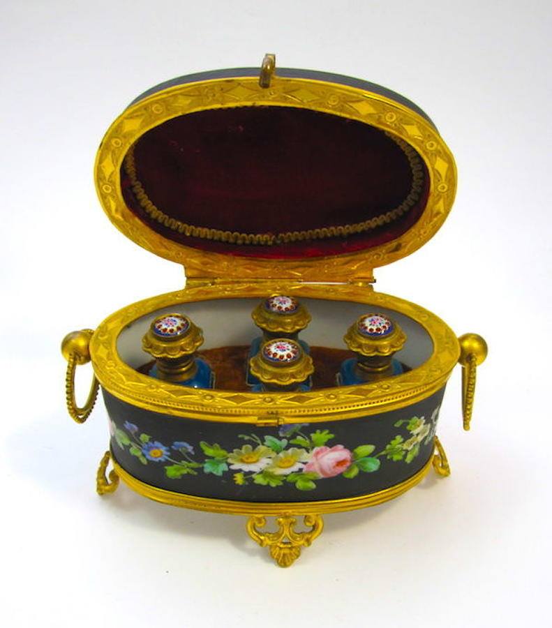 Antique French Porcelain Perfume Casket