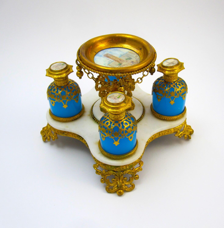 Palais Royal Opaline Glass Perfume Set