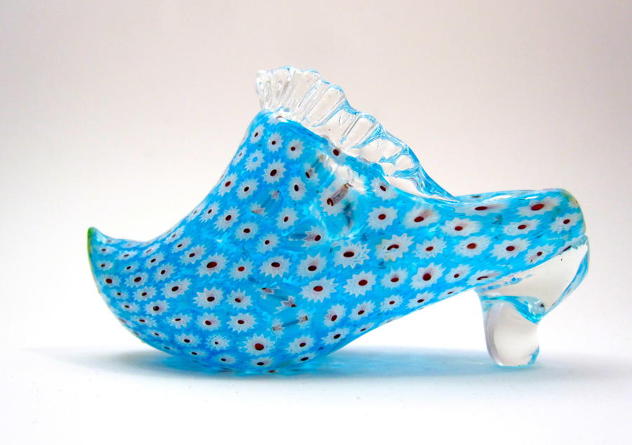 Miniature Vintage Murano Glass Shoe