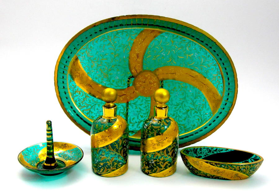 Antique Moser Dressing Table Set