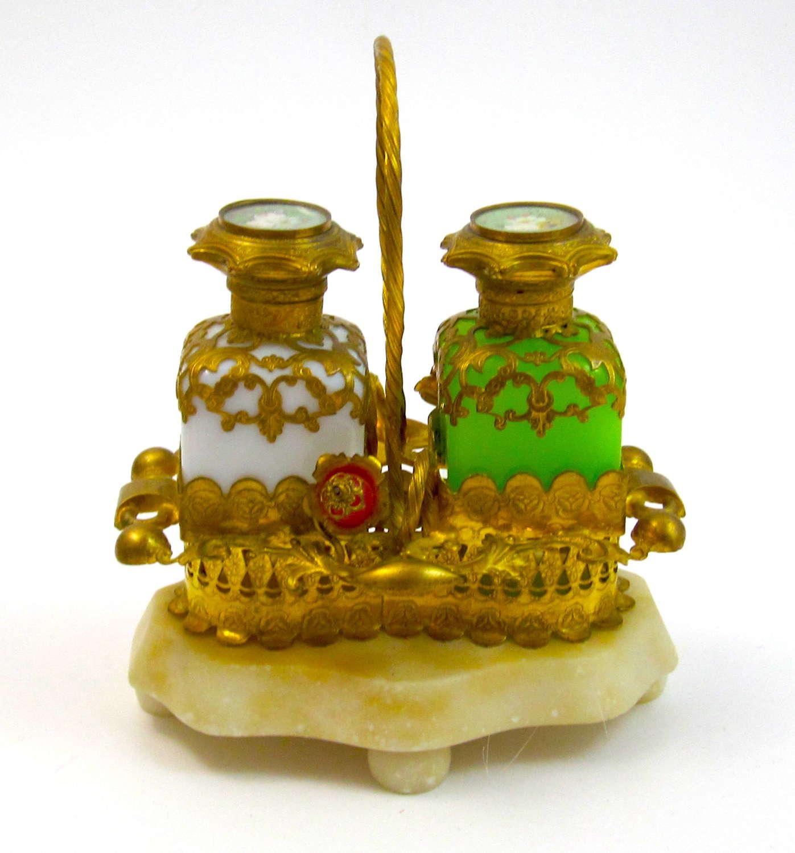 Antique Palais Royal Opaline Perfume Set