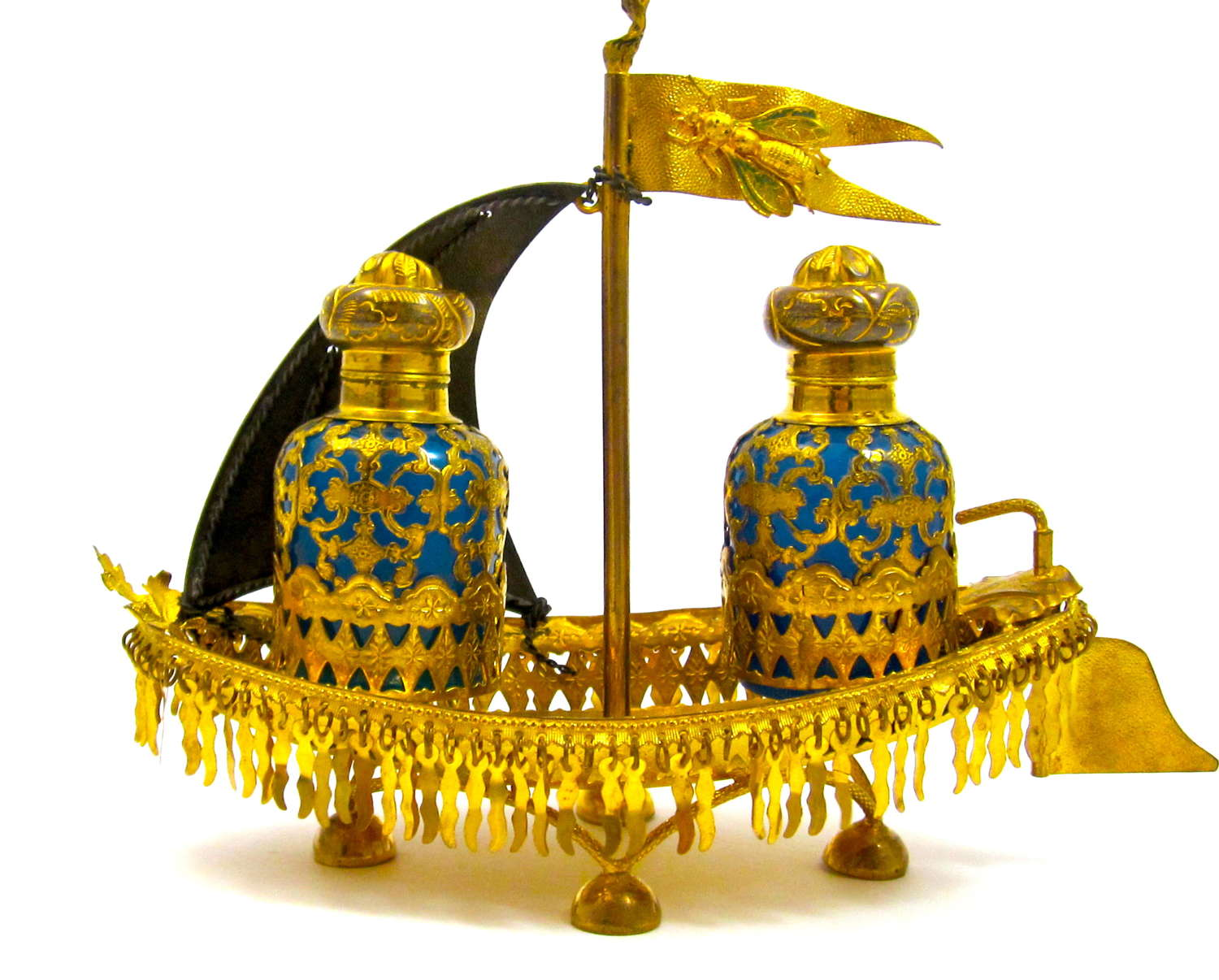 Antique Palais Royal 'Boat' Perfume Set