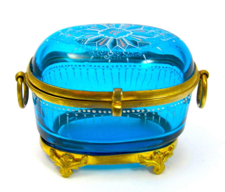 Antique MOSER Turquoise Enamelled Casket