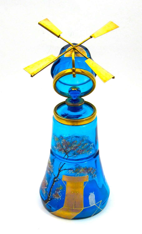 RARE Large Windmill Perfume Bottle