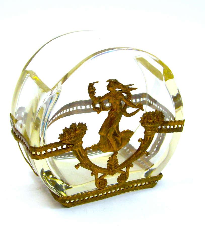 Pretty Napoleon III Dore Bronze and CrystalVase.