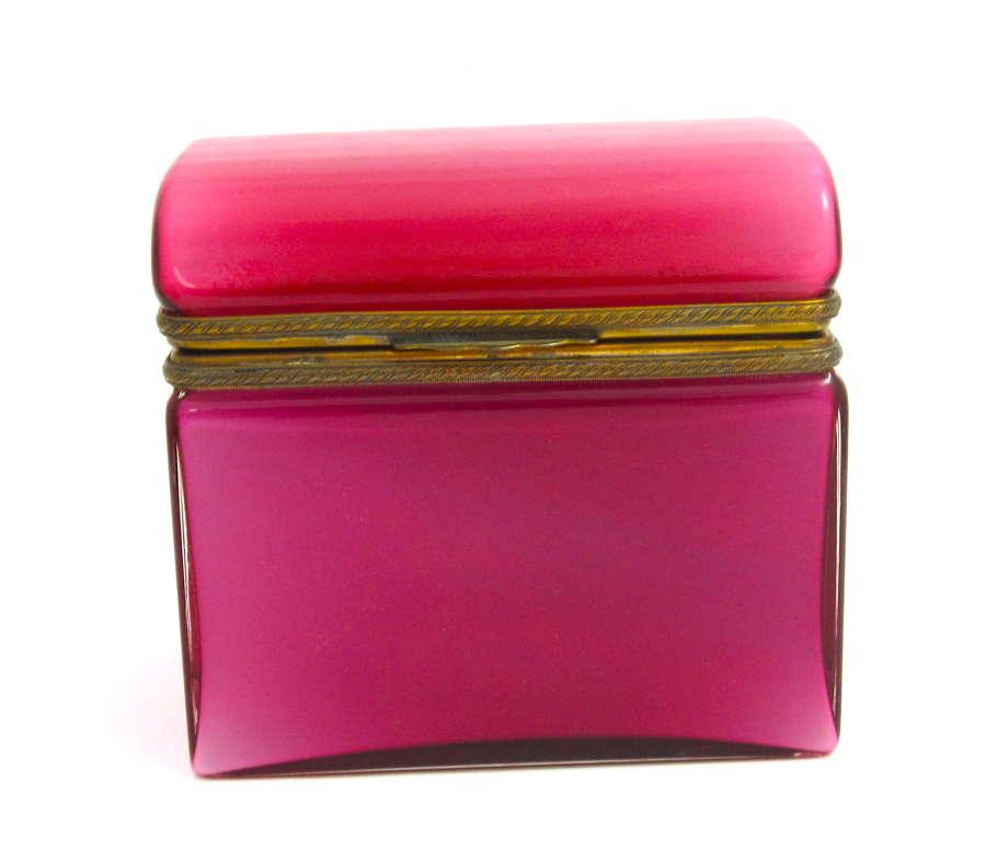Super Antique Pink Opaline Casket