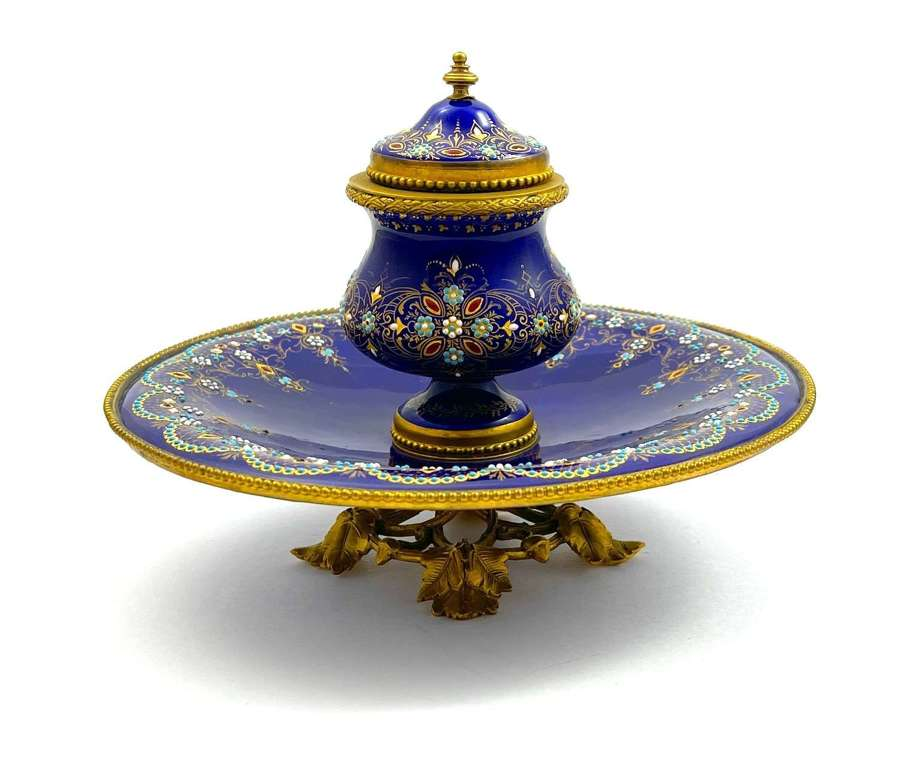 A Superb Palais Royal Antique French Tahan Inkwell