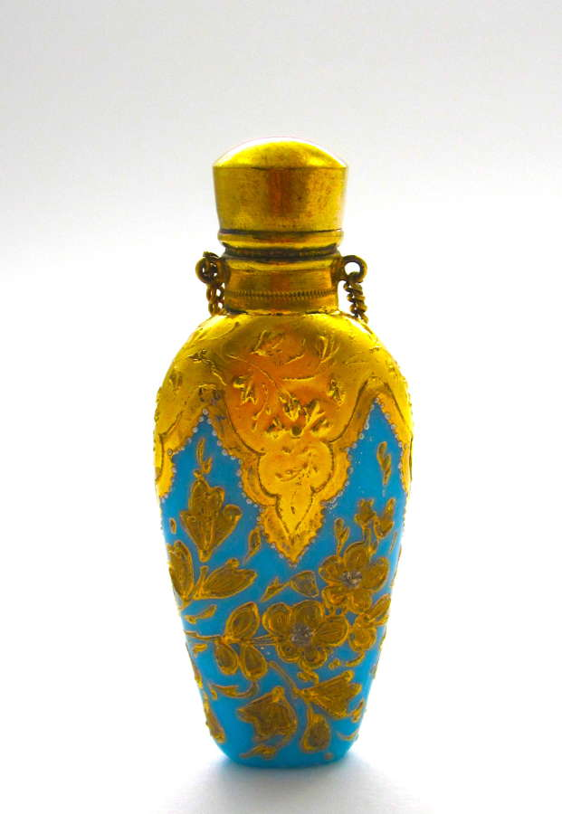 Antique MOSER Turquoise Perfume Bottle