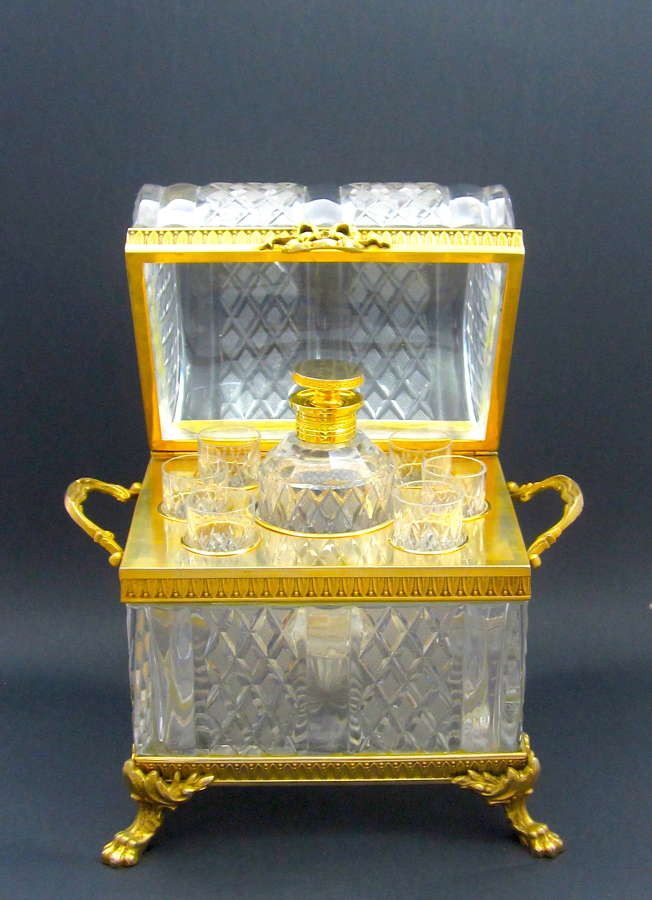 Monumental Antique Baccarat Cut Crystal Decanter Set