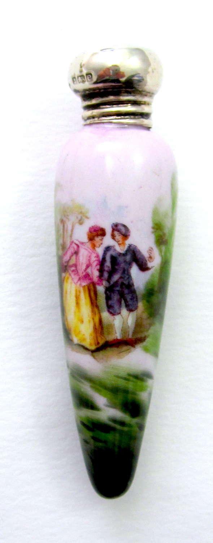 UnusualFineAntique Icicle Shaped PorcelainPerfume Bottle.