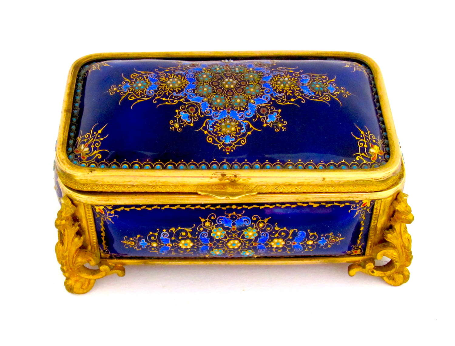 A Superb Antique French Tahan 'Bombe' Jewel Casket