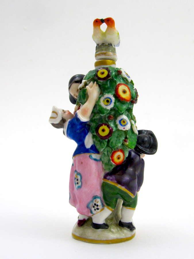 A Rare French Samson, Paris Porcelain Figural Perfume Bottle