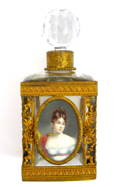 Finest Quality Antique Empire Perfume Bottle with Exquisite Miniature