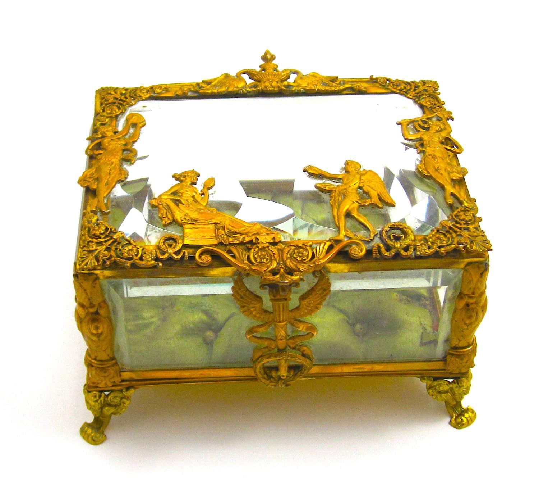 Fine Antique French Empire Jewellery Casket Box