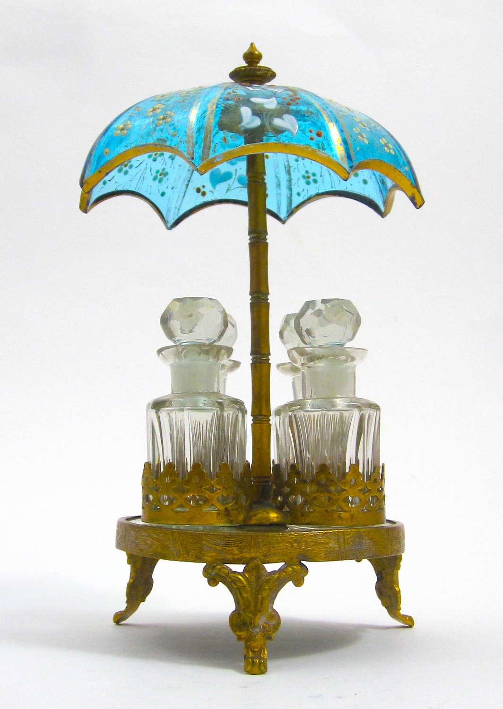 Unusual Antique Umbrella Perfume Set