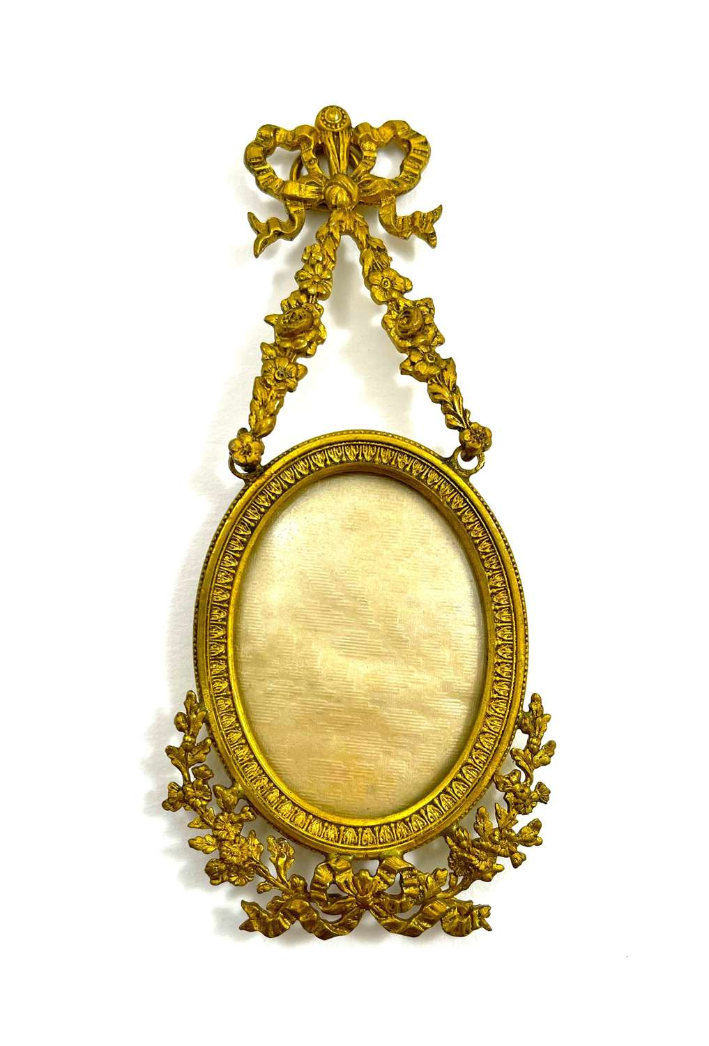 Antique Miniature French Gilt Bronze Picture Frame