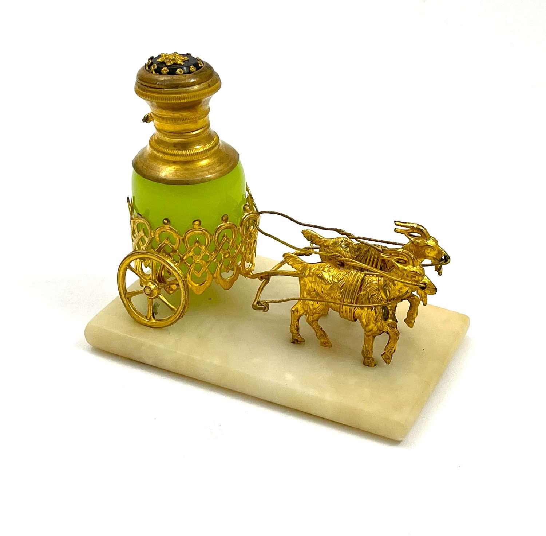 Antique Palais Royal Dore Bronze Carriagewith Perfume Bottle