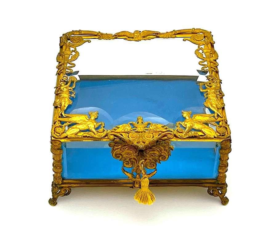 Large High Quality French Napoleon III Dore Bronze Jewellery Casket