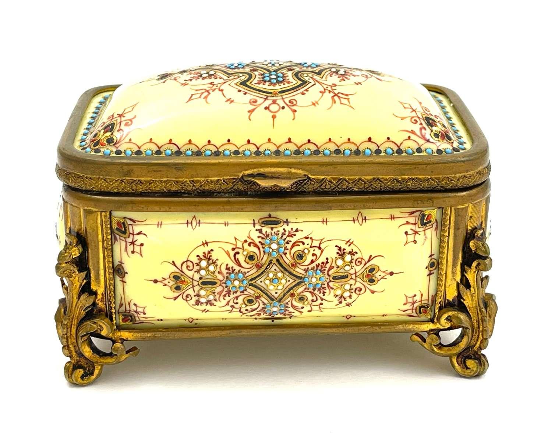 A Superb Palais Royal Antique French Tahan 'Bombe' Jewel Casket