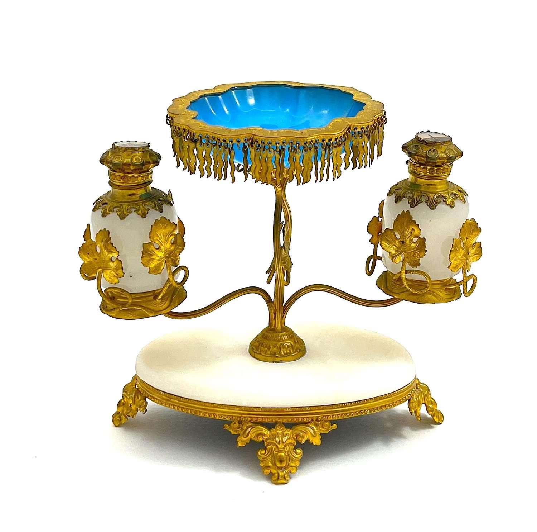 Antique Palais Royal Opaline Glass Perfume Set