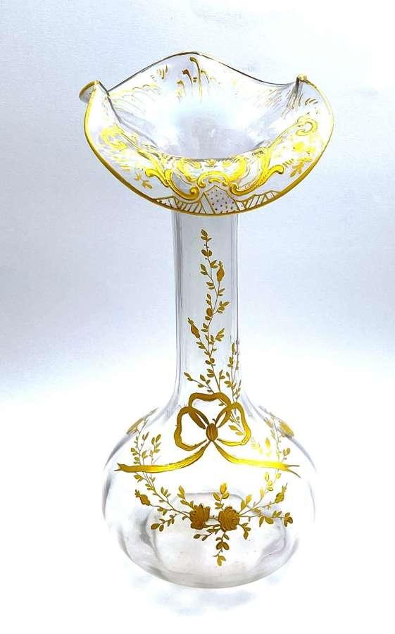 Fabulous Large Antique St Louis Iredescent Glass Vase