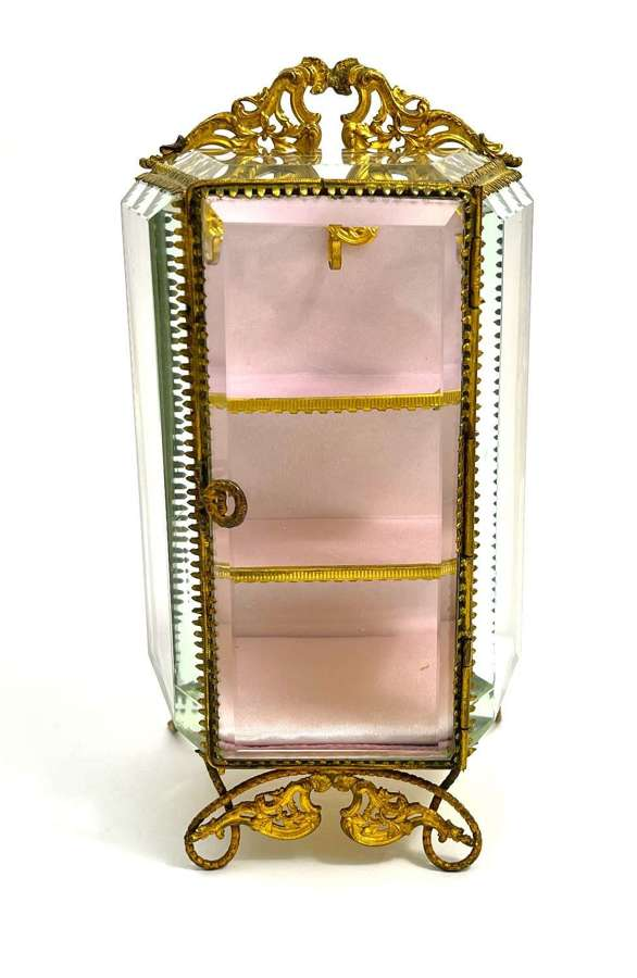 Antique French Vitrine Box with 2 Shelves