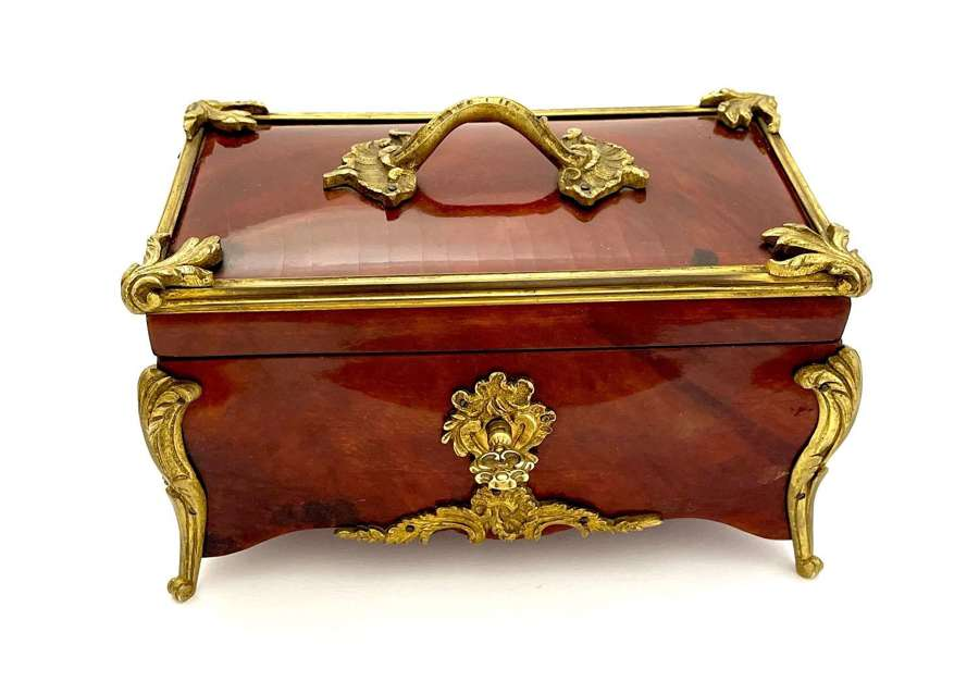An Exceptionally Fine Antique French Tortoiseshell Jewellery Box