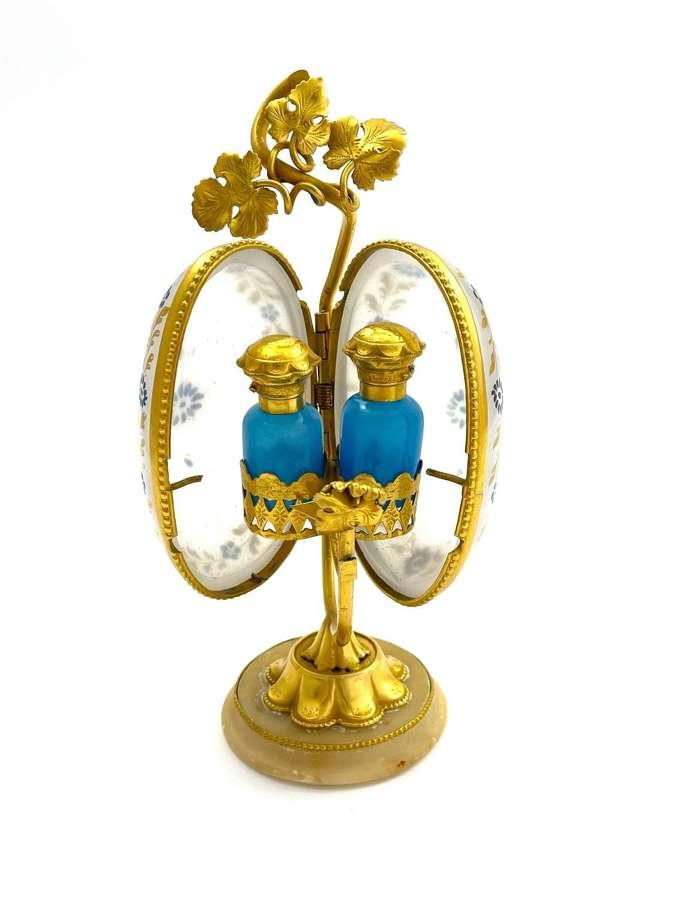 Antique Palais Royal Opaline Glass Perfume Casket
