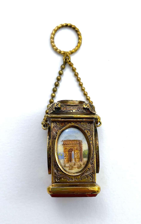 Antique Palais Royal Miniature Perfume Bottle with Seal