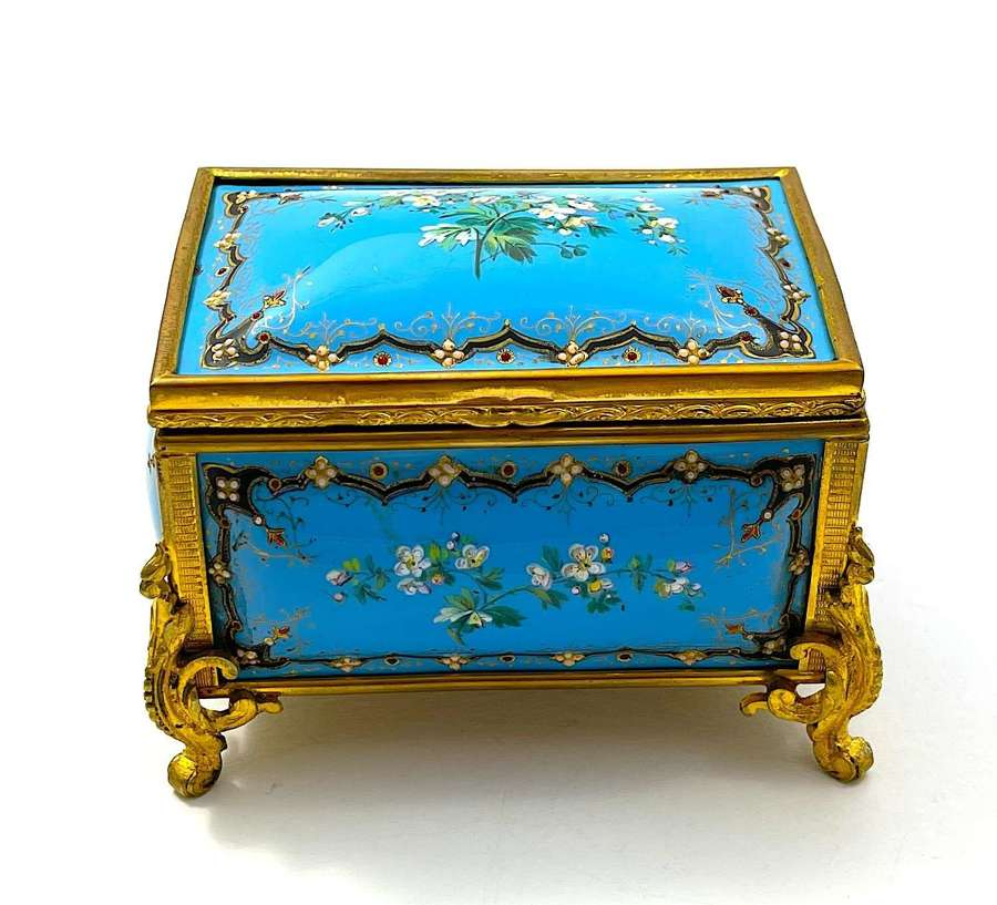 A  Palais Royal Antique French 'Bombe' Jewel Casket by Tahan
